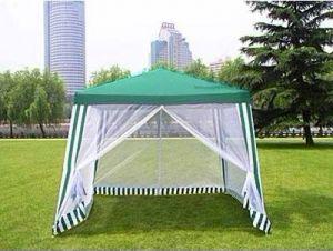 Тент-шатер водонепроницаемый с москитной сеткой  3 х 3 м.